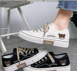 Sepatu Wanita Import Sneakers Tali Kanvas Model Terbaru Produk