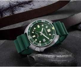 Jam Tangan San Martin Turtle 6105 Homage Metalic Green 200m diver