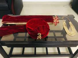 Indian Marriage Groom's Turban\Pagri, Shawl and chain
