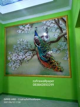 Wallpaper dinding plus pasang