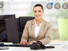 Urgent requirements for Girls in receptionist office job