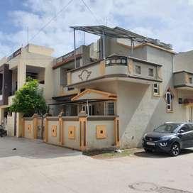130 vaar bungalow, road touch , corner, gondal