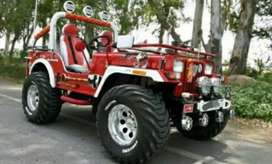 Red modified open jeep