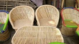 Cane and bamboo chairs