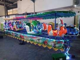 Odong odong kereta panggung tayo poli EK kereta mainan mini coaster