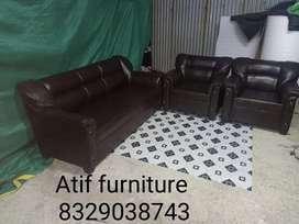 Full lather sofa sat 3+1+1