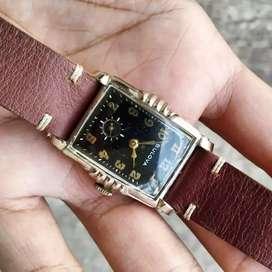 Jam Tangan Antil Vintage Bulova Artdeco Subsecond Millitary Black dial