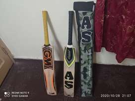 Complete cricket kit with 2 bats for sale