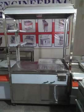 Steel counter size 2*4 with 2*2 hotplate