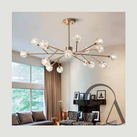 Lampu Gantung Nordic Tree Chandelier 18 Bulbs C-2