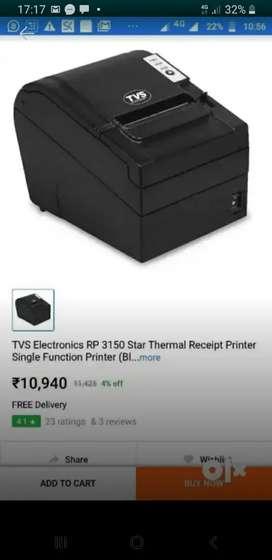 Thermal printer almost unused TVS best model