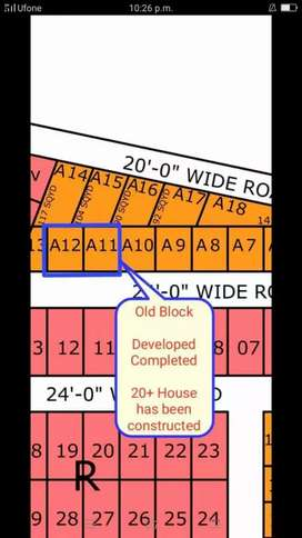 Plot in Developed Block on 4 Year Installment Old Block North Town