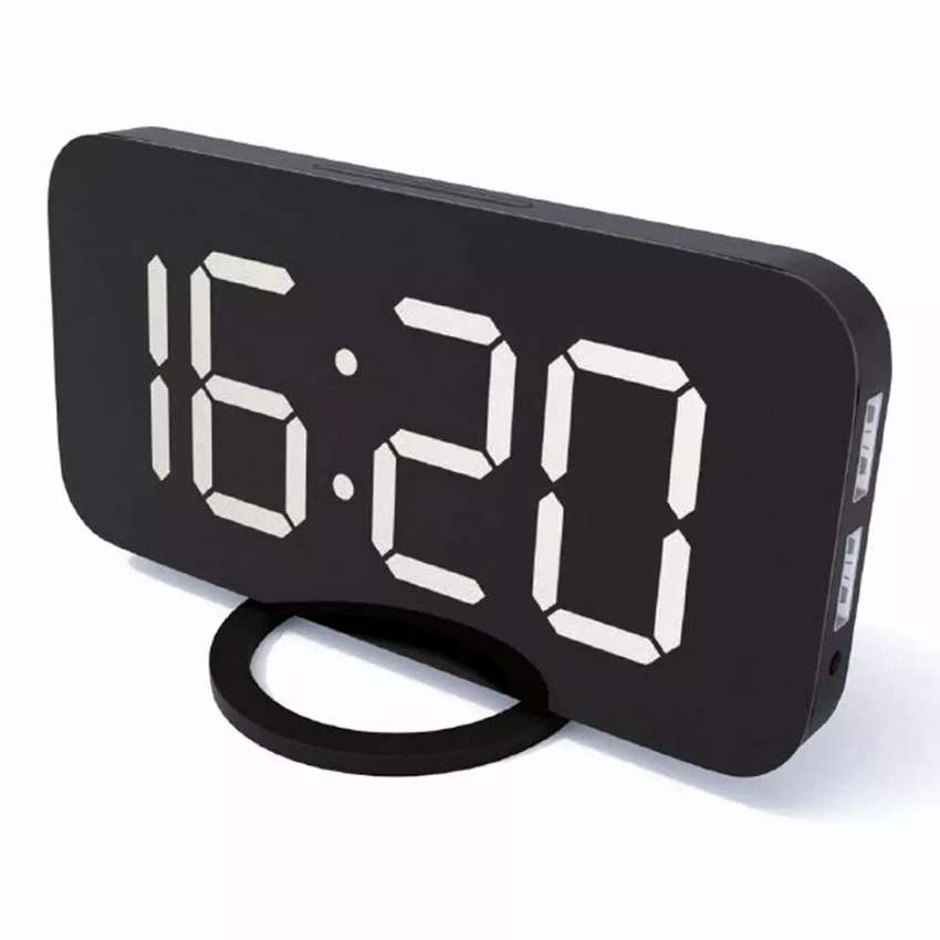 Jam Alarm Digital with Smartphone Charger 2 USB Port 2.1A 0