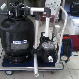 Pompa 3/4 HP dan Sand Filter 500mm Trouly Portable Astralpool