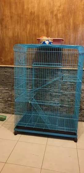 Kandang kucing 3 tingkat ukuran 124 x 90 x 60 cm