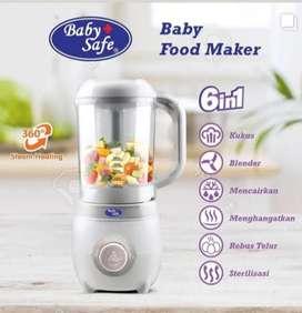 Pembuat makanan bayi merk baby safe ready 750rb bisa 6 fungsi