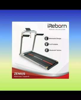 Alat fitnes treadmill elektrik 1 fungsi besar zenius ireborn