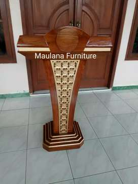 Mimbar podium masjid bisa custom nama
