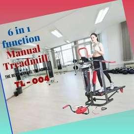 promo treadmill manual TL-004 F-684 electric alat fitnes