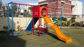 Slide swing and outdoor play area