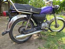 78CC ka baray size wala Bike. Best for beginners and home use.