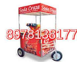 Push cart mobile rikshaw Soda machine
