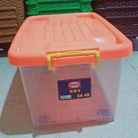box container kontainer + roda serbaguna shinpo 45 liter