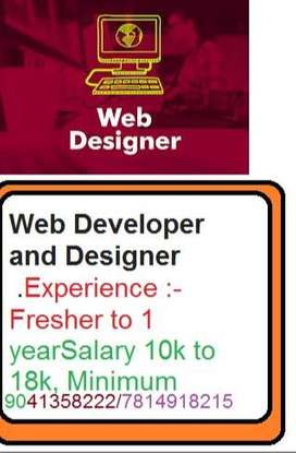 Required  Web Developer and Designer   Candidates must have good knowl