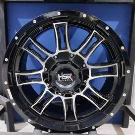 Velg Mobil PAJERO,FORTUNER HSR Ring 20 Lebar 9 Pcd 6x139,7 BlackPolish