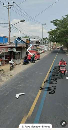 Disewakan Tempat Usaha Di Maumbi, Di Depan Jalan Raya Manado - Bitung