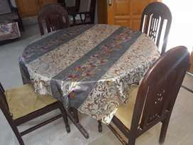 Pure wood daining table 4 seater