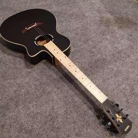 Gitar Akustik mapel Black doff Apex dobel round