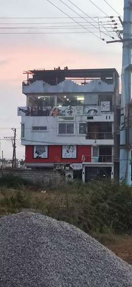 Newly constructed four floor commercial  building