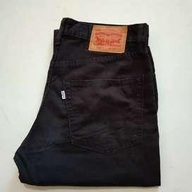 Jual celana katun original import hitam Levi's502 no32/Lp89/Pj106/Lb20
