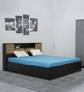 One bed and one wardrobe of nilkamal @ 34000(price at showroom 45000).