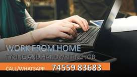 HANDWRITING AND OFFLINE TYPING JOB (WORK FROM HOME) HOME BASED JOB