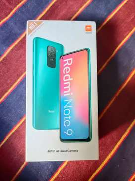 Redmi note 9 (4+64) sealed pack red colour