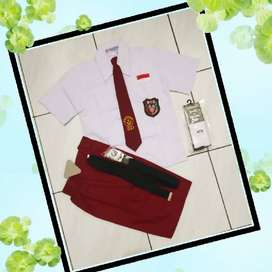 Seragam Sekolah SD Merah Putih Laki Lengkap Celana Pendek Baju Pendek