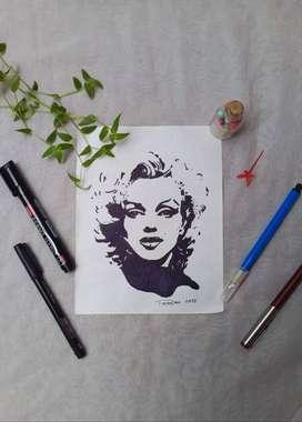 Customised stencil art.