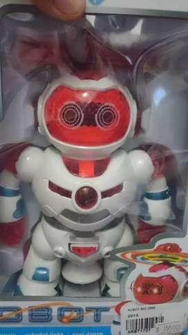 Mainan anak robot set bisa dansa dan berputar