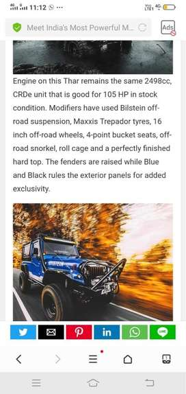 Most powerful THAR in india