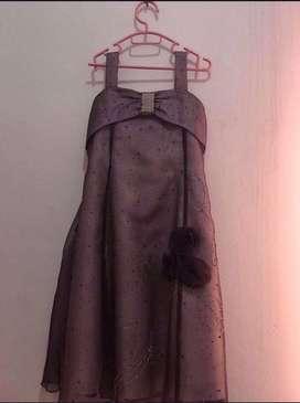 dress anak warna ungu