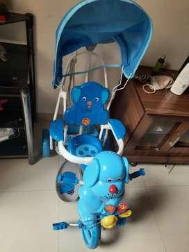 Babyhug baby  tricycle cum rocker