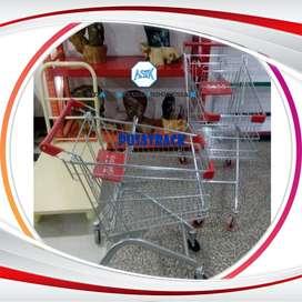 Trolley Dorong Kerajang Chrome PT ASIK