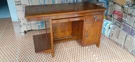 Meja kantor classic, kayu jati finis natural, free ongkir
