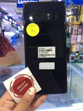 Samsung Note 8 64gb black Fullset sein ! minus retak