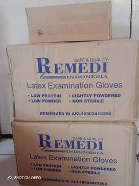 Sarung tangan latex Remedi