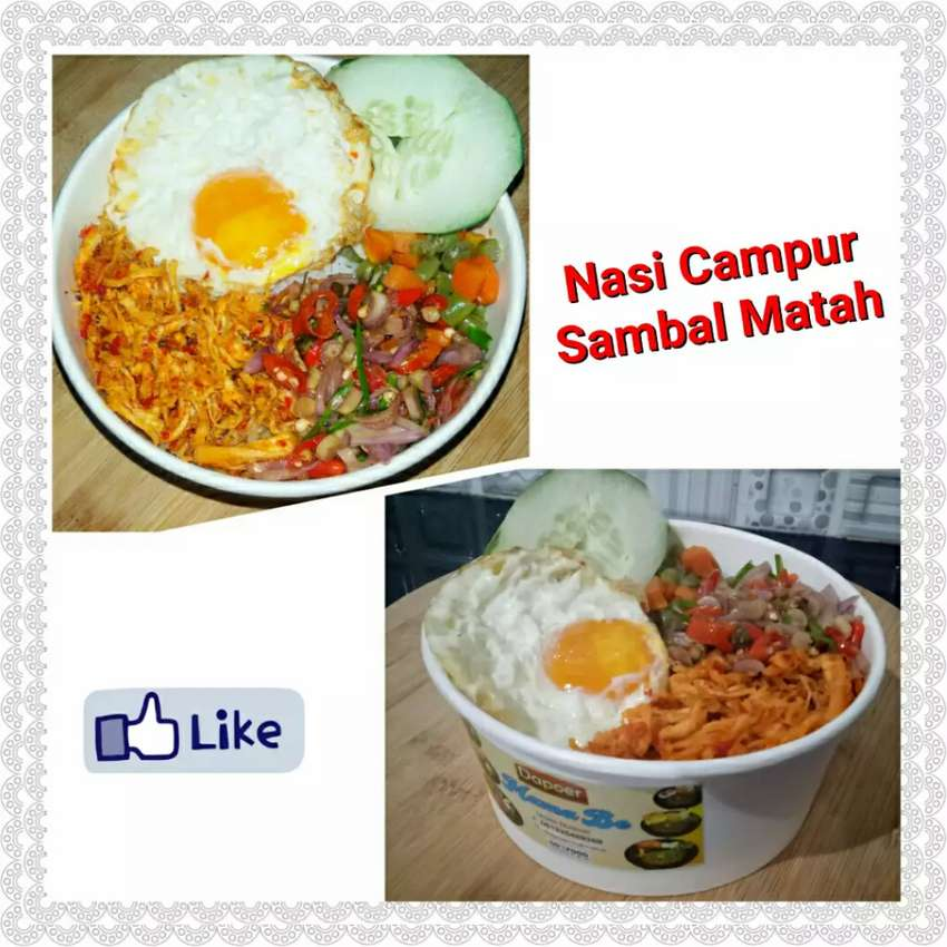Nasi Cup,  Nasi Campur Sambal Matah 0