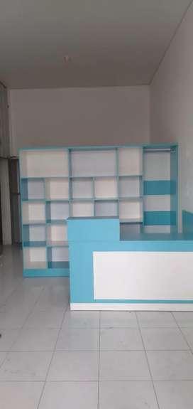 1.paket rak dan meja kasir modern