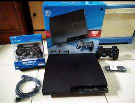 PS3 Slim 500GB Wokeh Bos Console kesayangan full 100game 2 Stik
